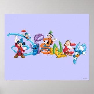 Logotipo el | Mickey de Disney y amigos Póster