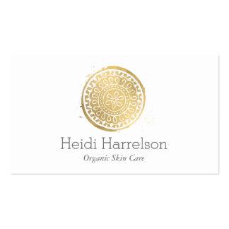 Logotipo elegante de la mandala del oro de Boho de Tarjetas De Visita