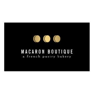 Logotipo elegante del trío de Macaron del oro en Plantilla De Tarjeta De Negocio