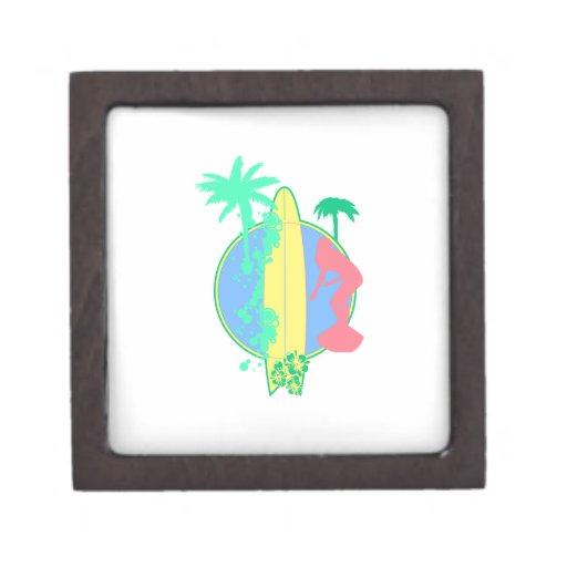 Logotipo en colores pastel del tablero de resaca cajas de joyas de calidad