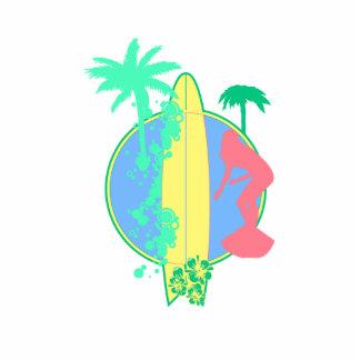 Logotipo en colores pastel del tablero de resaca esculturas fotográficas