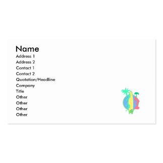 Logotipo en colores pastel del tablero de resaca tarjetas personales