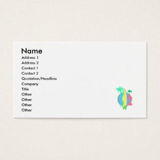 Logotipo en colores pastel del tablero de resaca tarjetas de visita