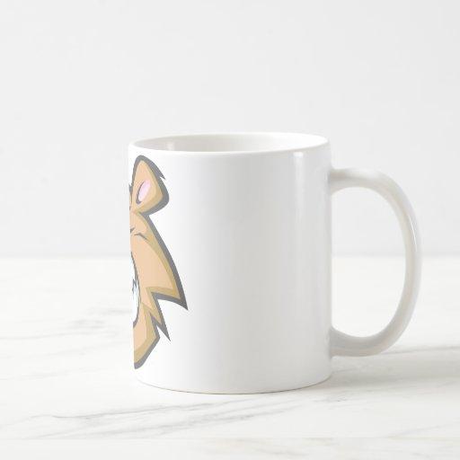 Logotipo enojado de encargo del dibujo animado del taza de café