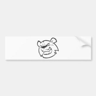 Logotipo enojado de encargo del esquema del oso pegatina para auto