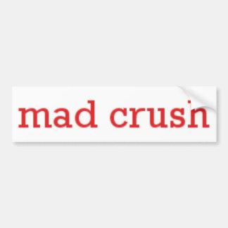 Logotipo enojado del agolpamiento pegatina para auto