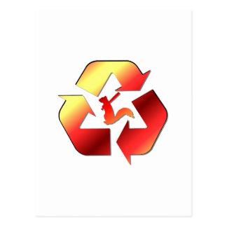 Logotipo enojado del funcionario de la milicia de postales