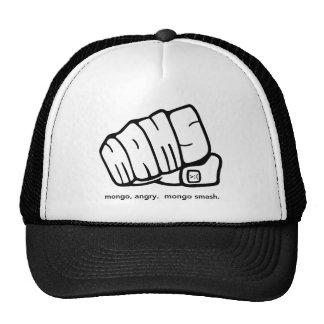Logotipo enojado del puño del choque del Mongo del Gorras