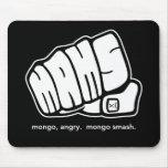Logotipo enojado del puño del choque del Mongo del Alfombrilla De Raton