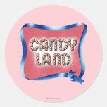 Logotipo envejecido tierra del caramelo etiquetas redondas