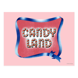 Logotipo envejecido tierra del caramelo postal