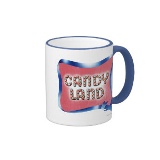 Logotipo envejecido tierra del caramelo taza de café