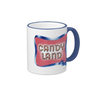 Logotipo envejecido tierra del caramelo taza de dos colores