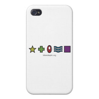 Logotipo escéptico simbólico de Zener iPhone 4 Cárcasa