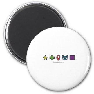 Logotipo escéptico simbólico de Zener Imán Redondo 5 Cm