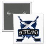 Logotipo escocés de la bandera del hockey sobre hi pins
