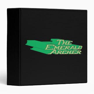 """Logotipo esmeralda de Archer Carpeta 1 1/2"""""""