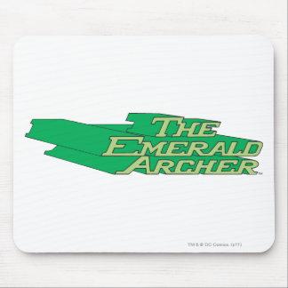 Logotipo esmeralda de Archer Alfombrilla De Ratones