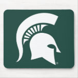 Logotipo espartano del casco de la universidad de tapete de ratones