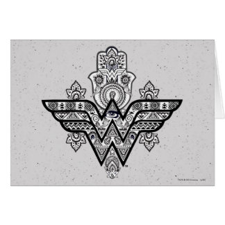 Logotipo espiritual de Paisley Hamsa de la Mujer Tarjeta De Felicitación