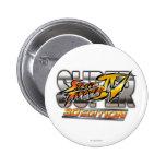 Logotipo estupendo de la edición 3D de Street Figh Pins