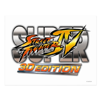 Logotipo estupendo de la edición 3D de Street Figh Tarjetas Postales