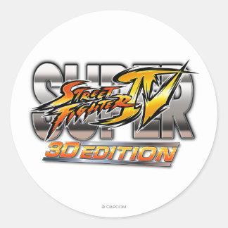 Logotipo estupendo de la edición 3D de Street Pegatina Redonda