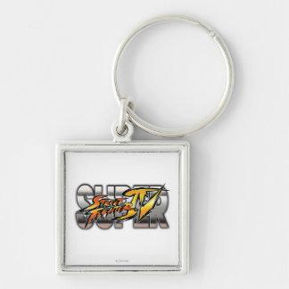 Logotipo estupendo de Street Fighter IV Llaveros Personalizados