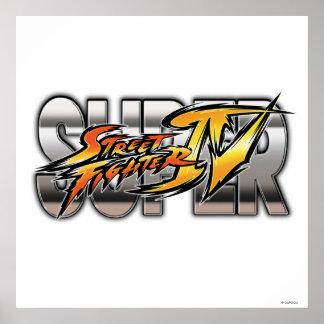 Logotipo estupendo de Street Fighter IV Posters