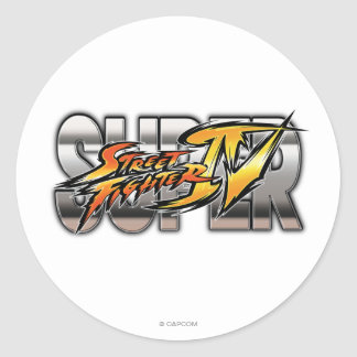 Logotipo estupendo de Street Fighter IV Pegatina Redonda