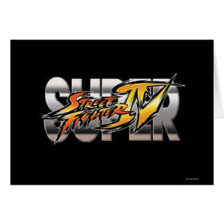 Logotipo estupendo de Street Fighter IV Tarjeta