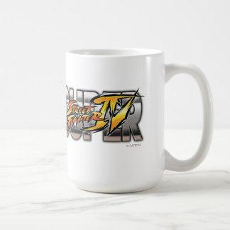 Logotipo estupendo de Street Fighter IV Tazas De Café
