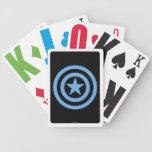 Logotipo estupendo del soldado de capitán América Baraja Cartas De Poker