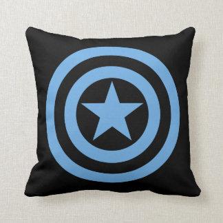 Logotipo estupendo del soldado de capitán América Cojín Decorativo
