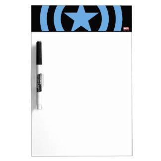 Logotipo estupendo del soldado de capitán América Pizarras Blancas De Calidad