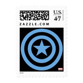 Logotipo estupendo del soldado de capitán América Sello