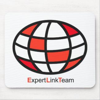 Logotipo experto del equipo del vínculo alfombrilla de raton