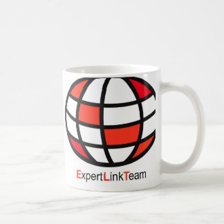 Logotipo experto del equipo del vínculo taza básica blanca