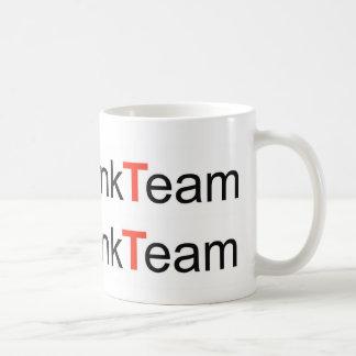 Logotipo experto del equipo del vínculo taza de café