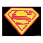 Logotipo Far-Out de Supergirl Tarjeta Postal