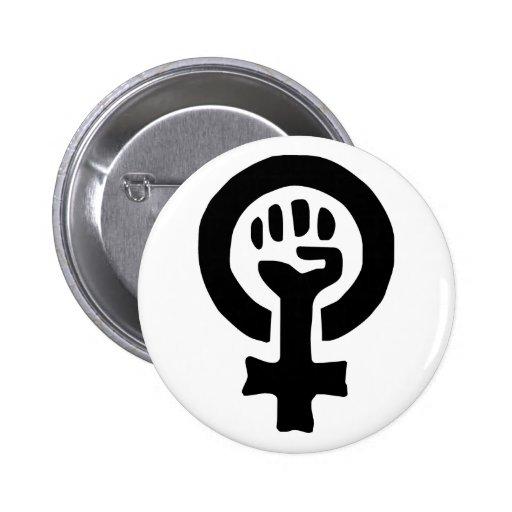 Logotipo feminista del símbolo pin