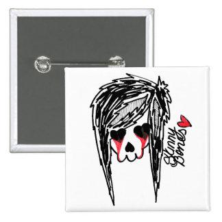 Logotipo flaco del esqueleto del chica de los hues pins