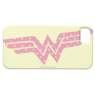Logotipo floral rosado colorido de la Mujer iPhone 5 Carcasas
