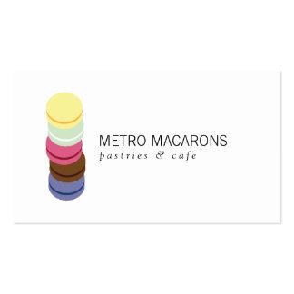 LOGOTIPO FRANCÉS de la PILA de MACARON para la pan Tarjeta De Visita