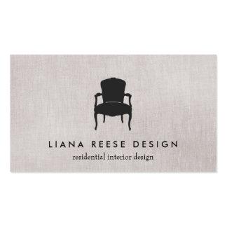 Logotipo francés simple de la silla del diseño tarjetas de visita