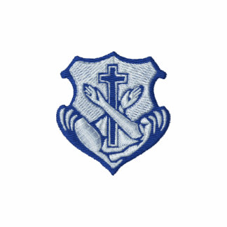 Logotipo franciscano - escudo chamarra de deporte bordada con cremallera