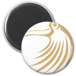 Logotipo fresco de encargo del pájaro de Toucan Imán Redondo 5 Cm