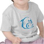Logotipo fresco de la camiseta de los delfínes de