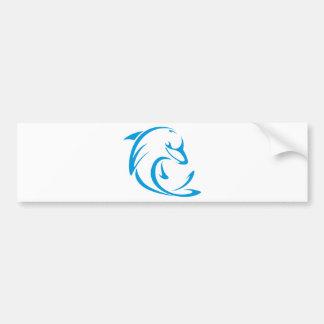 Logotipo fresco de la camiseta de los delfínes de pegatina para auto