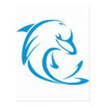 Logotipo fresco de la camiseta de los delfínes de postal